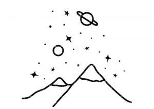 Bügelbild dem Himmel so nah 15 cm x 13 cm