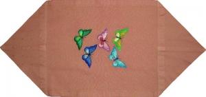 Tischdeckchen mit Schmetterlingen bestickt - Handarbeit kaufen