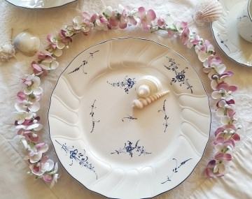 Ehrenplatz Blumengirlande Tischdeko für Kommunion, Konfirmation