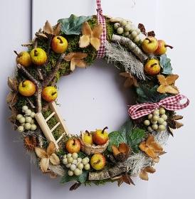 Türkranz Apfelernte Kranz Herbstkranz Dekokranz