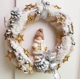 Türkranz Weihnachten Weihnachtskranz Adventskranz Winterkind