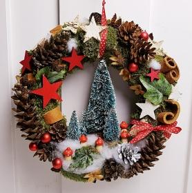 Türkranz Weihnachten Weihnachtskranz Tannenbäumchen