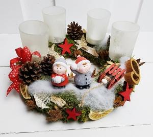 Adventskranz Winterkinder Weihnachten