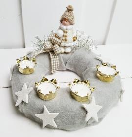 Adventskranz Winterkind Weihnachtskranz
