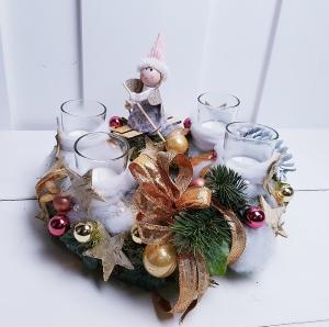 Adventskranz kleine Elfe Weihnachtskranz