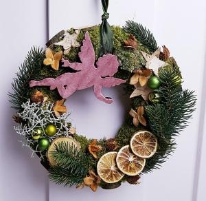 Türkranz Engel Weihnachten Weihnachtskranz