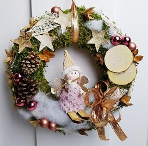 Türkranz gute Fee Weihnachten Weihnachtskranz