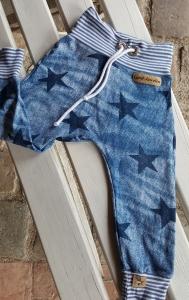 ★ Pumphose Jeanshose blau ★ jeansstyle Sterne Wunschgröße