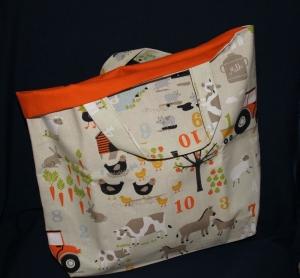 Einkaufstasche - Stofftasche - Shopper - Baumwolltasche - Wendetasche mit Bodenfalte