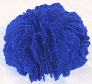 Brosche ♡ handgefertigt aus Stoff in Königsblau kaufen
