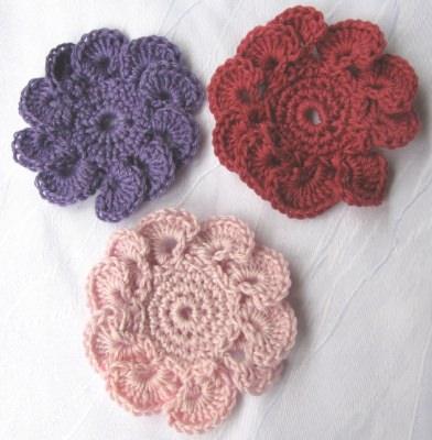 Blüte ☀ handgehäkelt aus Baumwolle mit freier Farbwahl bestellen