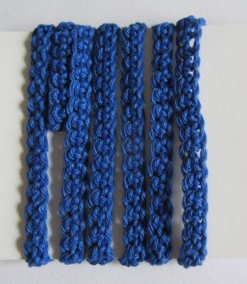Geschenkband handgehäkelt aus Baumwolle in Blau bestellen