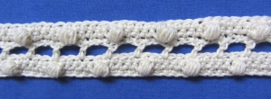 Zierborte ♡ Borte Bordüre handgehäkelt aus Baumwolle in Creme oder in Ihrer Wunschfarbe bestellen