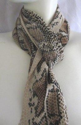 Vintage Schal in Beige, Braun und Schwarz kaufen