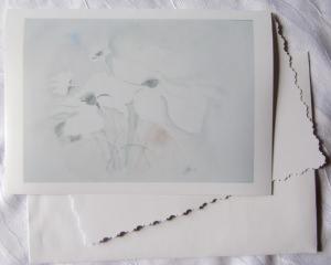 Grußkarte Faltkarte Zarte Blüte handgemalt fotografiert und gedruckt auf Fotopapier kaufen