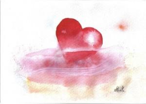 Grußkarte Herz in Not handgemacht kaufen