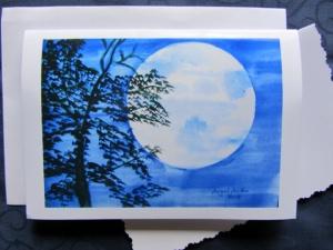 Grußkarte ☀ Faltkarte Herbststimmung handgemalt fotografiert und gedruckt auf Fotopapier kaufen