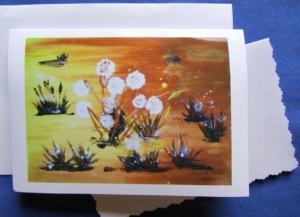Grußkarte ☀ Faltkarte Wüstenblüte handgemalt fotografiert und gedruckt auf Fotopapier kaufen