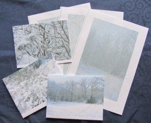 Briefpapier fotografiert und gedruckt mit winterlichen Motiven bestellen