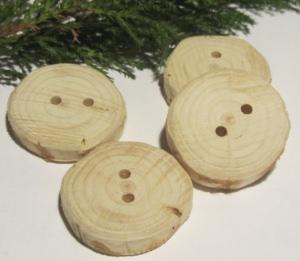 Knöpfe handgemacht aus Wacholderholz kaufen