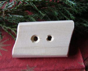 Knopf aus Fichtenholz handgefertigt kaufen
