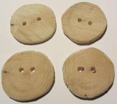 Knöpfe handgefertigt aus Wacholderholz unbehandelt kaufen