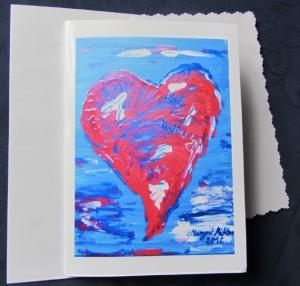 Grußkarte Faltkarte Liebe und Hoffnung handgemalt fotografiert und gedruckt auf Fotopapier kaufen