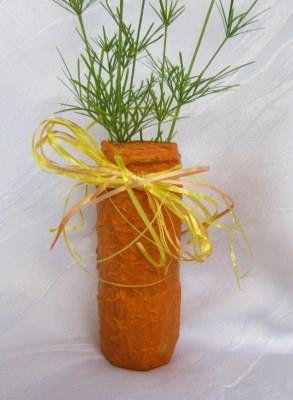 Blumenvase handbemalt mit Acrylfarbe in orange kaufen