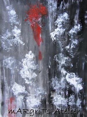 Acrylbild Gemälde BEWEGUNG handgemalt mit Acrylfarben auf Acralpapier im Original kaufen