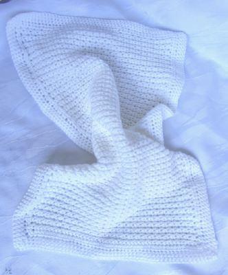 Gästehandtuch ♡ handgehäkelt aus Baumwolle in Weiß kaufen