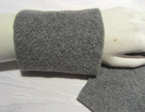 Pulswärmer für Sie & Ihn zugeschnitten und genäht aus Fleecestoff in grau kaufen - Handarbeit kaufen