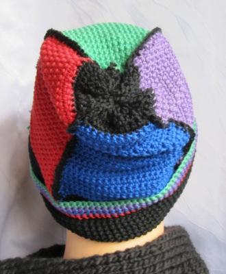Mütze Männermütze handgehäkelt aus Baumwolle in den Farben schwarz, grün, rot, blau, vieolett kaufen