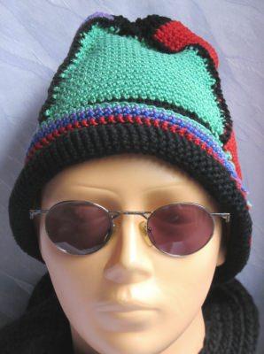 Mütze handgehäkelt aus Baumwolle in bunt kaufen