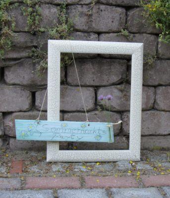 Schild aus Holz mit der Aufschrift Sommernachtsparty handgefertigt kaufen