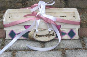 Korb handbemalt und dekoriert für das Sommerfest oder die Grillparty kaufen