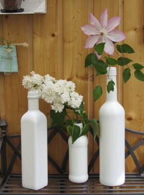 Vasen im 3er-Set im Shabbylook handgefärbt
