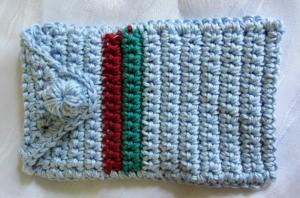 Schutzhülle für Smartphone handgehäkelt aus Baumwolle kaufen