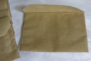 Tüten ✄ handgefertigt aus Packpapier in rechteckiger Form zum Bestempeln oder Beschriften bestellen