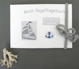 Tagebuch für Seglerfreunde handgefertigt DIN A5 im Querformat für Erlebnisse und Erinnerungen kaufen