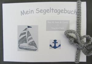 Tagebuch für Seglerfreunde handgefertigt DIN A5 im Querformat kaufen