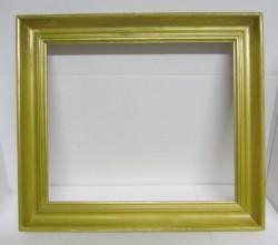 Bilderrahmen handgefertigt aus Fichtenholz und handgefärbt mit Acrylpaste in der Farbe Antikgold im Shabbystil kaufen