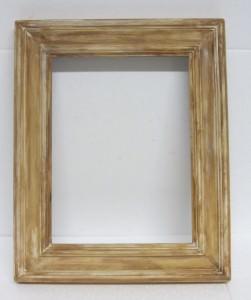 Bilderrahmen handgefertigt aus Fichtenholz und handgefärbt in Weiß und Braun im Shabbylook kaufen