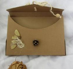 Briefmappe handgefertigt aus Wellpappe aus meiner Serie Natur kaufen