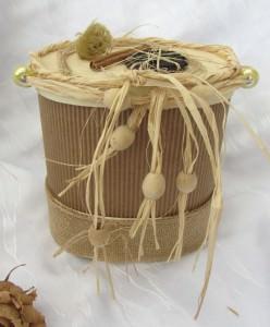 Handgefertigte Geschenkbox aus verschiedenen Materialien aus meiner Serie Natur kaufen - Handarbeit kaufen