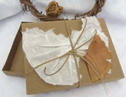 Geschenkschachtel handgemacht aus Wellpappe aus meiner Serie Natur in rechteckiger Form kaufen