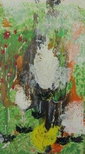 Acrylbild mit dem Titel Regenwald handgemalt mit Acrylfarben auf Pappe im Original kaufen