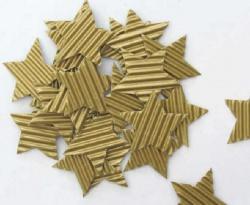Sterne handgeschnitten aus goldfarbiger Wellpappe als Streudeko oder für die Kartengestaltung kaufen