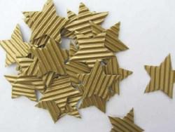 Sterne handgeschnitten aus Wellpappe goldfarbig kaufen