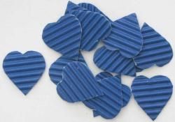 Herz handgeschnitten aus blauer Wellpappe zum Gestalten von Karten oder Geschenken oder als Streudeko kaufen