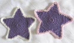 Stern handgehäkelt aus Baumwolle in Lila kaufen